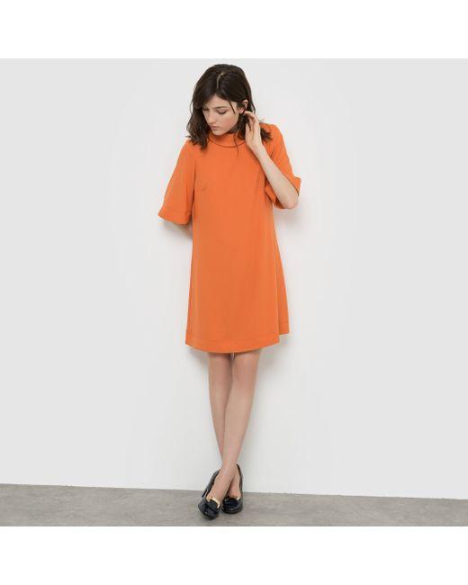 R édition | Женское Оранжевое Платье Широкого Покроя
