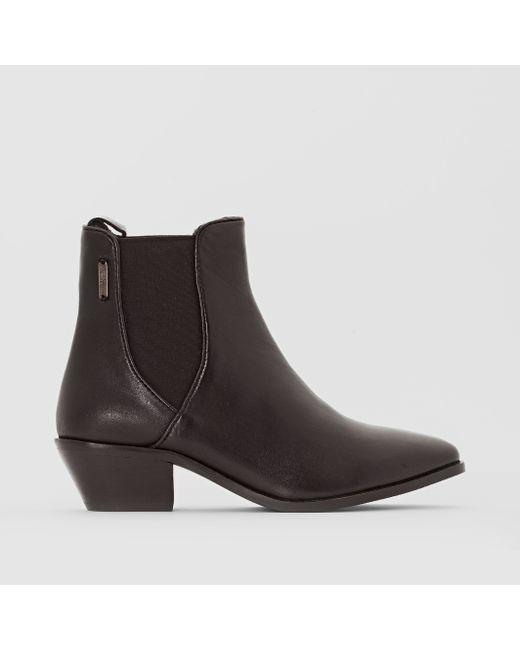 Pepe Jeans London | Женские Чёрные Ботильоны Кожаные Dina