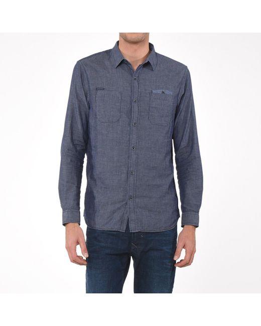 Kaporal 5 | Мужская Синяя Рубашка Stue