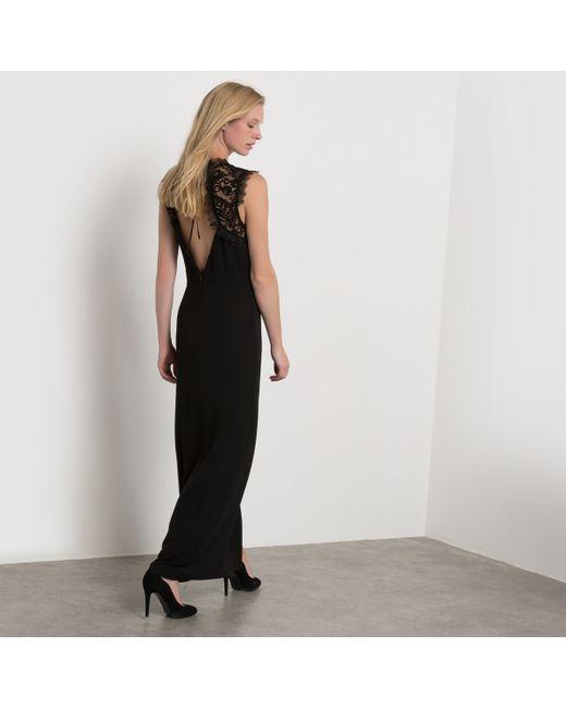 atelier R | Женское Чёрное Платье Длинное Из Кружева