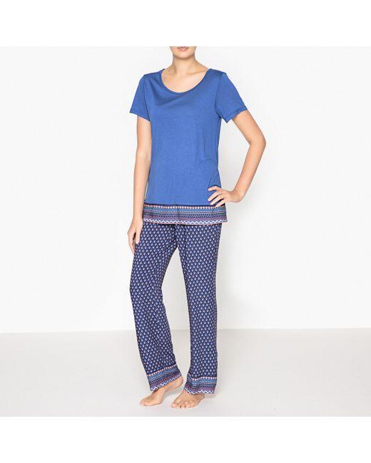 LOVE JOSEPHINE | Женская Синяя Пижама С Этническим Рисунком