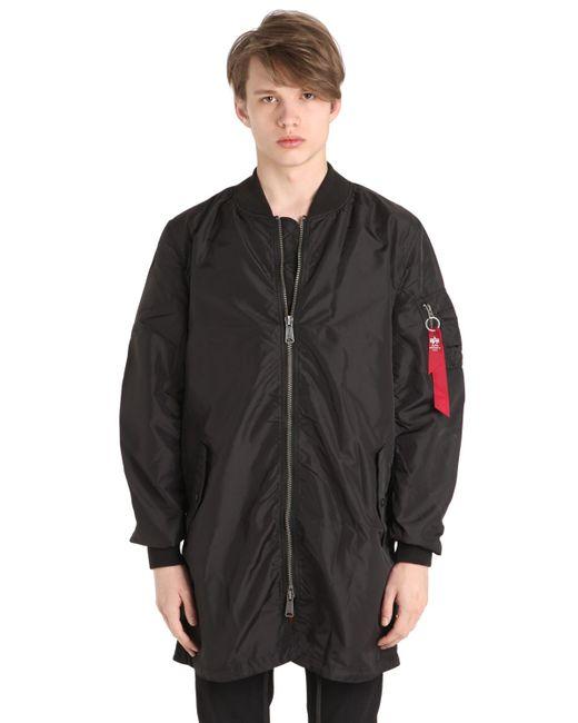 Alpha Industries   Мужская Чёрная Куртка-Бомбер Ma-1 Tt Из Нейлона