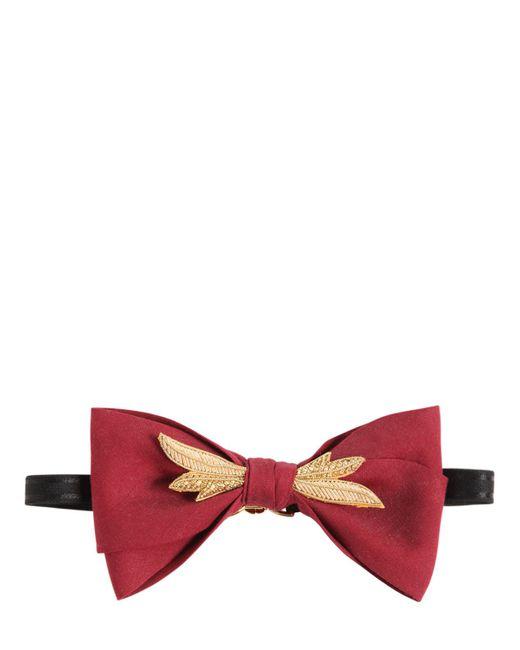 MANI DEL SUD | Мужской Красный Галстук-Бабочка С Вышивкой