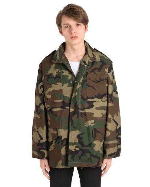 Alpha Industries | Мужская Woodland Camo Хлопковая Куртка