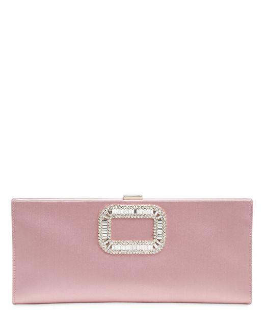 Roger Vivier | Женский Розовый Клатч Из Шёлкового Атласа Pilgrim
