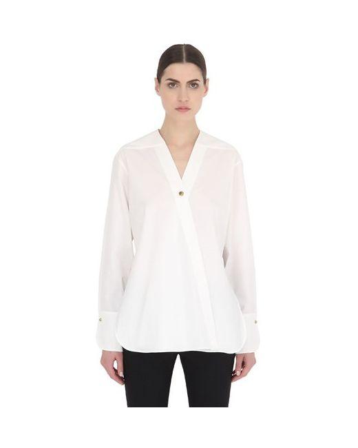 Christophe Lemaire   Женская Рубашка Из Хлопкового Поплин