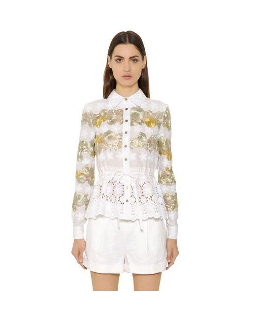 Diane Von Furstenberg | Женская Кружевная Рубашка Ivanka С Цветочной Вышивкой