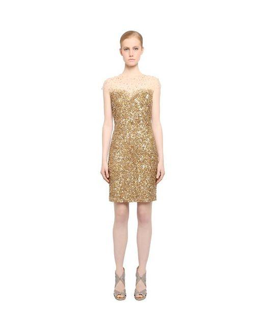 Reem Acra | Женское Платье Из Тюля Стрейч