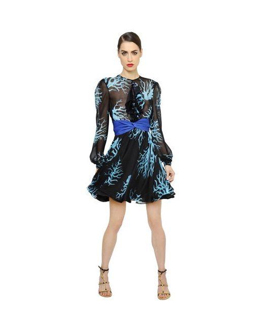 Francesco Scognamiglio   Женское Платье Из Шелкового Шифона
