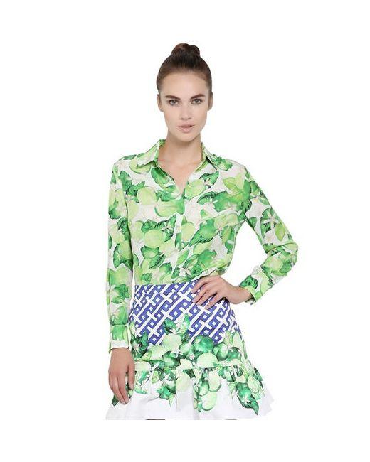 Isolda | Женская Рубашка Из Шелкового Крепа С Принтом