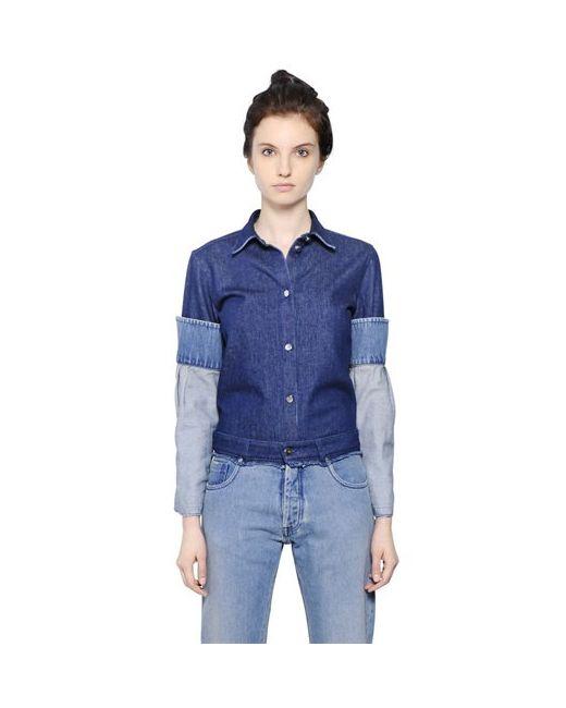 MM6 by Maison Margiela | Женская Рубашка Из Хлопкового Деним