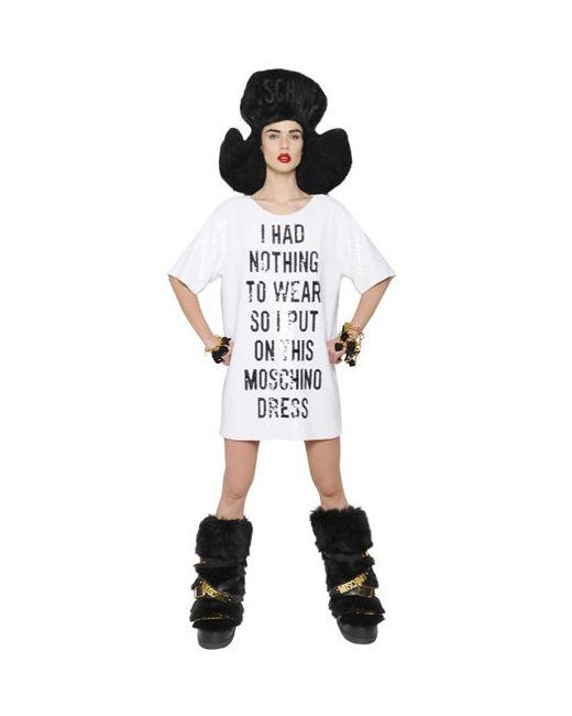 Moschino | Женское Платье Из Жоржет С Пайетками