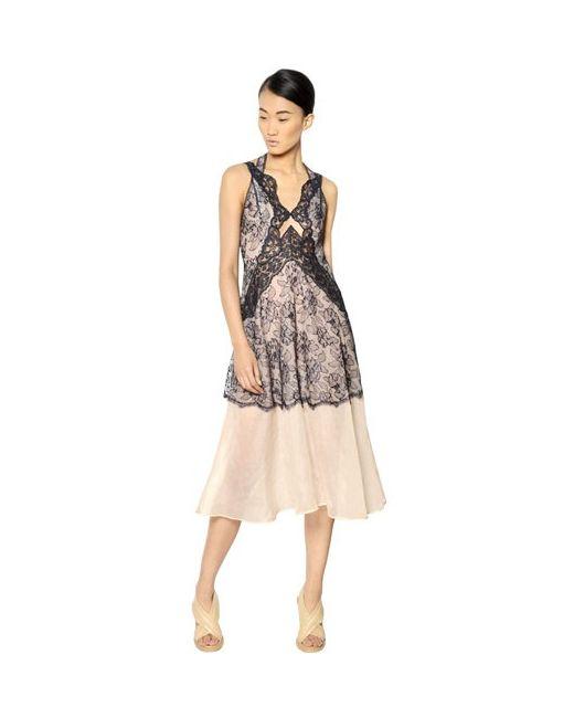 Stella Mccartney | Женское Длинное Платье Из Шелковой Органзы
