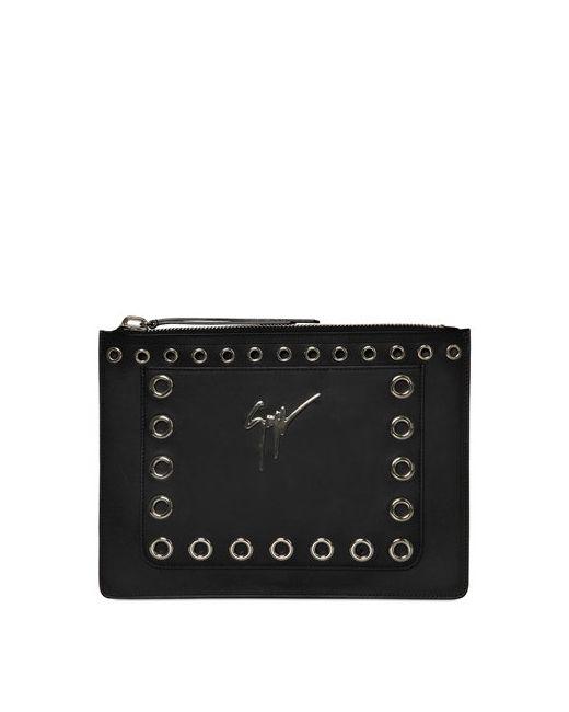Giuseppe Zanotti Design | Мужской Кожаный Клатч С Металлическими Люверсами