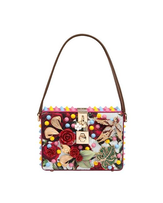 Dolce & Gabbana | Женская Сумка Dolce Mamma Из Парчи С Вышивкой