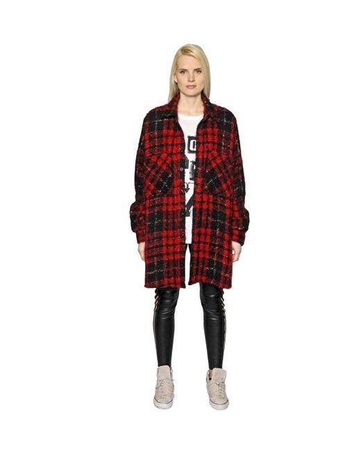 Faith Connexion | Женская Куртка Полушерстяной Букле В Клетку
