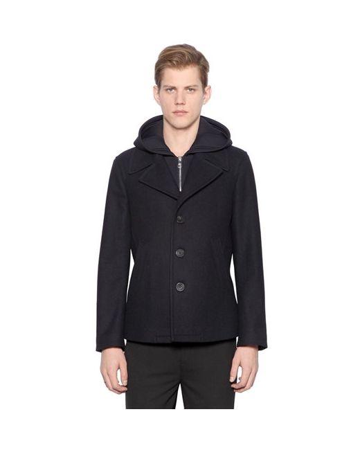 Neil Barrett | Мужская Куртка Из Шерстяного Фетра И Неопрена
