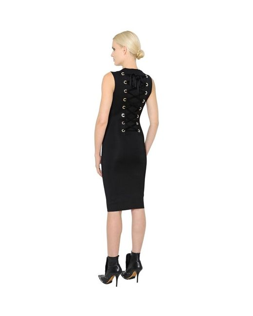 Givenchy | Женское Трикотажное Платье На Шнуровке