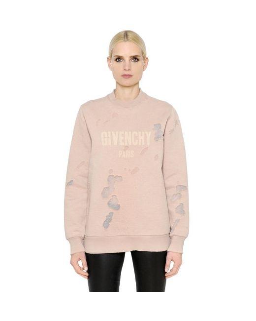 Givenchy | Хлопковый Свитшот С Принтом Логотипа