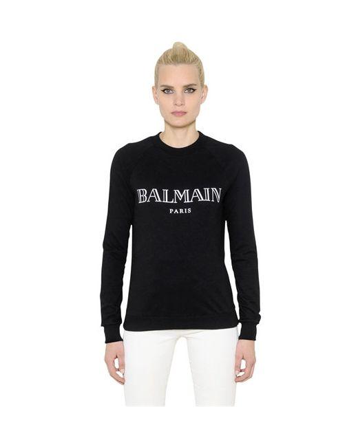 Balmain | Свитшот Из Хлопкового Джерси С Логотипом