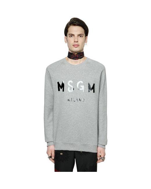 MSGM   Мужской Хлопковый Свитшот С Виниловым Логотипом
