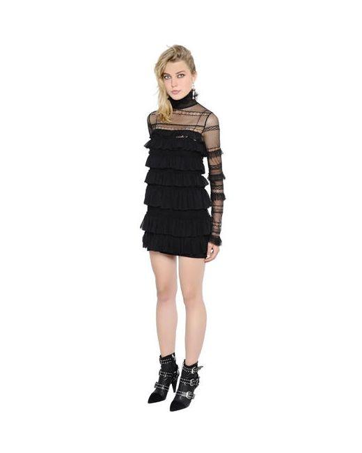 Isabel Marant | Женское Платье Из Тюля И Кружева С Оборками