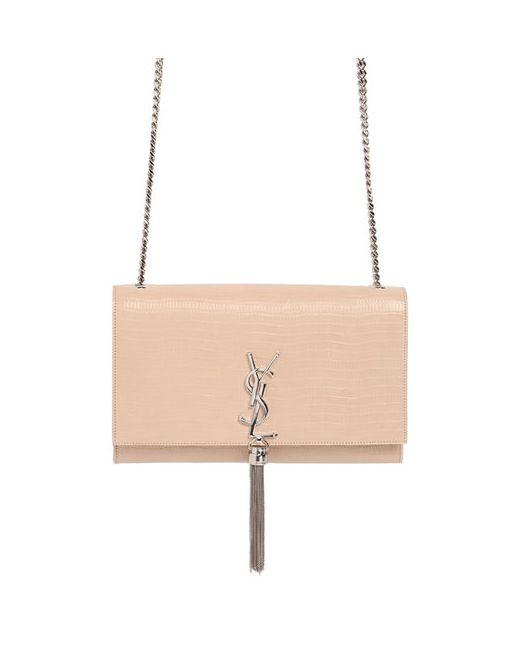 Saint Laurent | Женская Сумка Kate Monogram Из Тиснёной Кожи