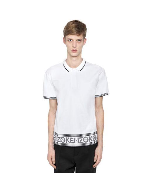 Kenzo   Мужская Рубашка-Поло Из Хлопкового Джерси С Логотипом