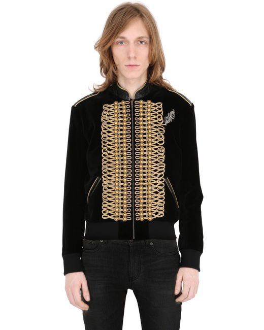 Saint Laurent | Мужская Куртка Модель Teddy В Стиле Милитари