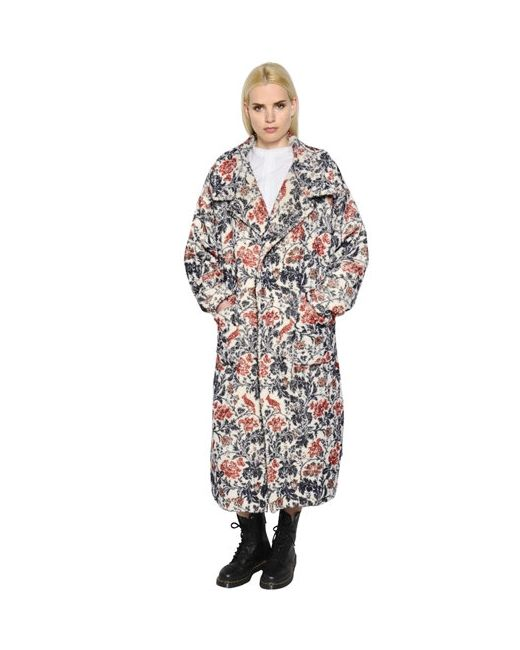 Y'S | Женское Шерстяное Пальто С Цветочным Принтом