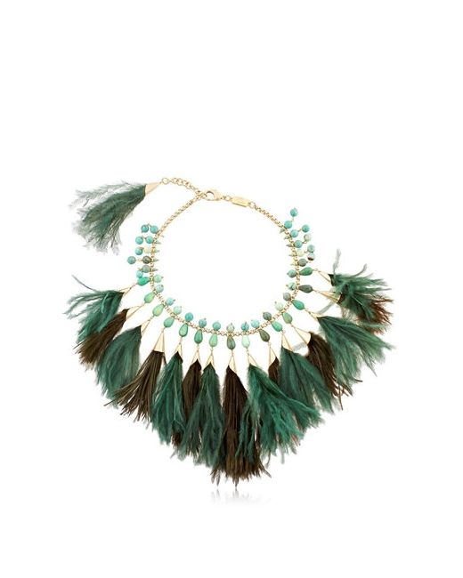Rosantica | Золотой Faggio Feathered Necklace