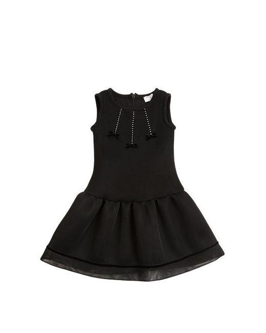 Mona Lisa   Чёрный Doubled Mesh Cotton Jersey Dress
