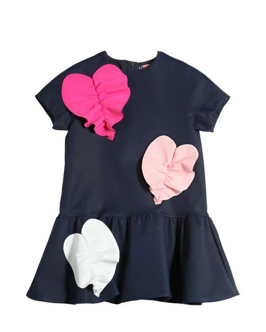 MSGM | Navy Hearts Milano Jersey Dress