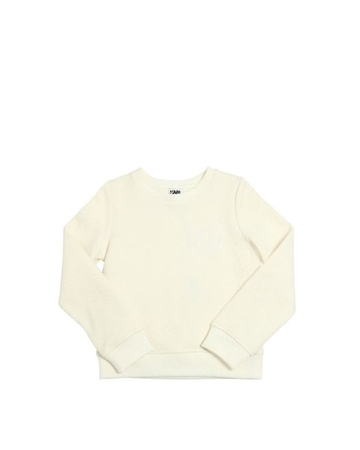 Karl Lagerfeld | Белый Cotton Interlock Organza Sweatshirt