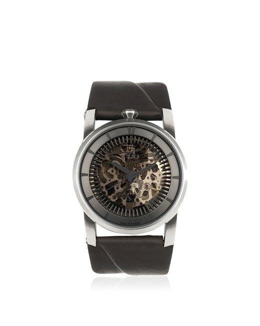 FOB PARIS | Чёрный Rehab 413 Silver Watch