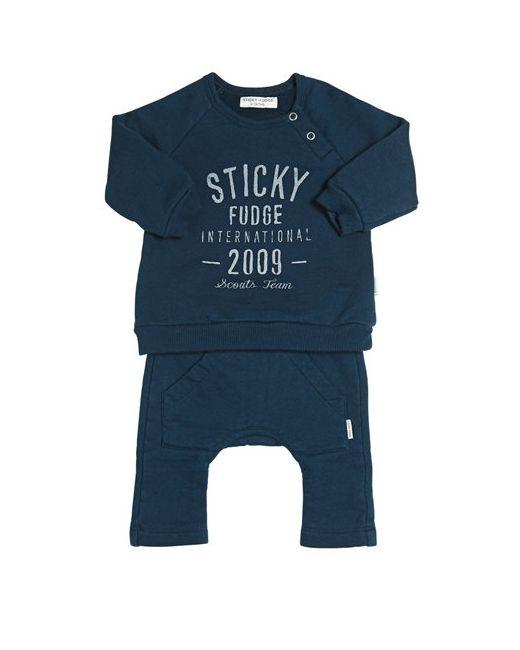 STICKY-FUDGE | Petrol Organic Cotton Sweatshirt Pants