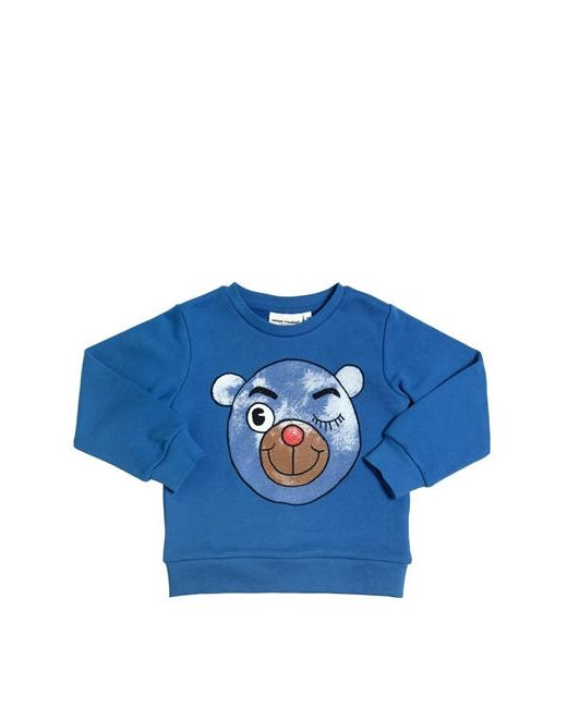 Mini Rodini | Синий Bear Printed Organic Cotton Sweatshirt