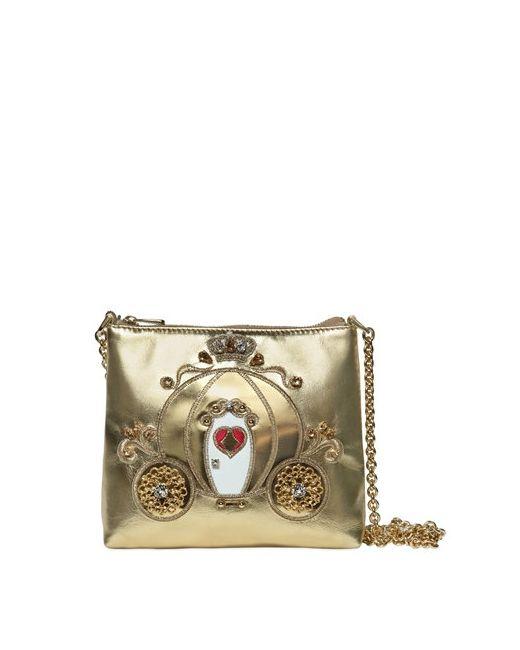 Dolce & Gabbana | Золотой Embellished Carriage Nappa Leather Bag