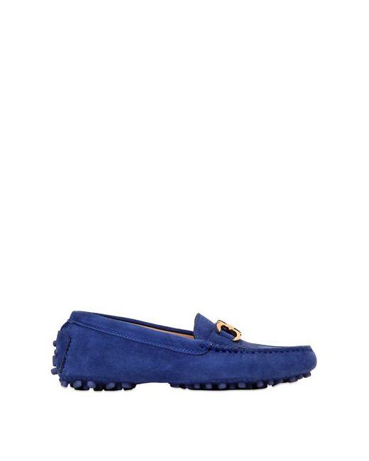 Salvatore Ferragamo | Синий Saba Mini Suede Driving Shoes