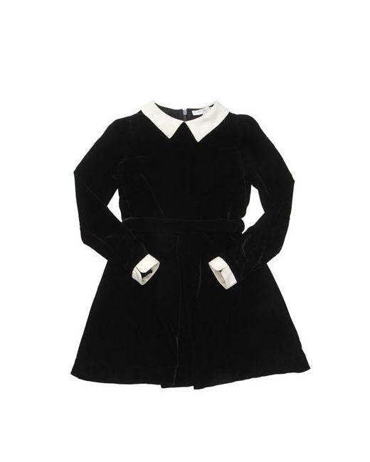 CARAMEL BABY AND CHILD | Чёрный Velvet Viscose Dress