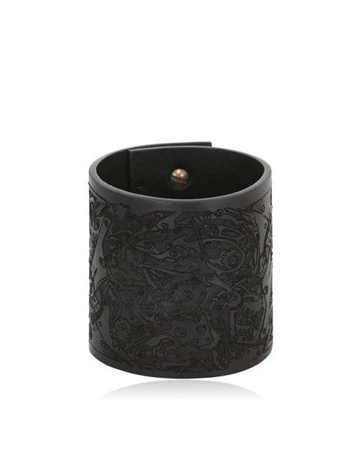 LISA VANBACH | Чёрный Chronos Leather Bracelet