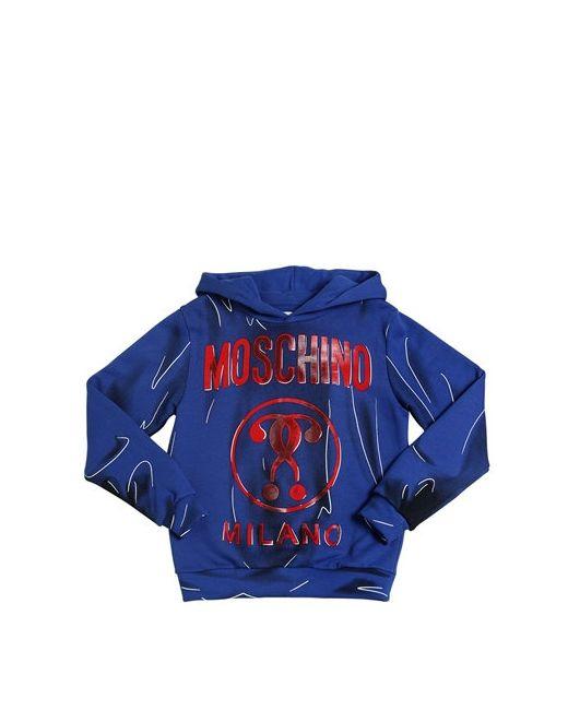 Moschino | Синий Shadow Printed Cotton Sweatshirt