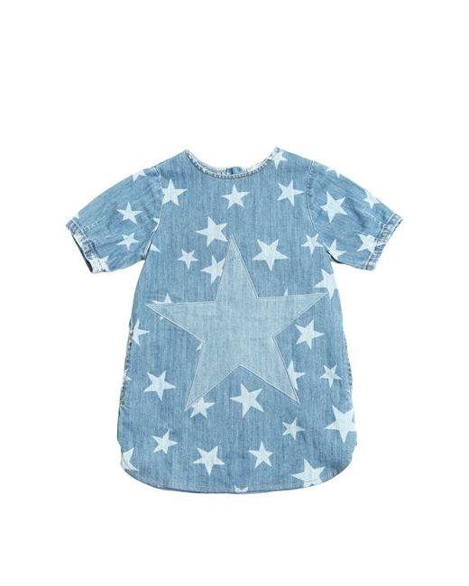 Stella Mccartney   Denim Stars Printed Stretch Dress