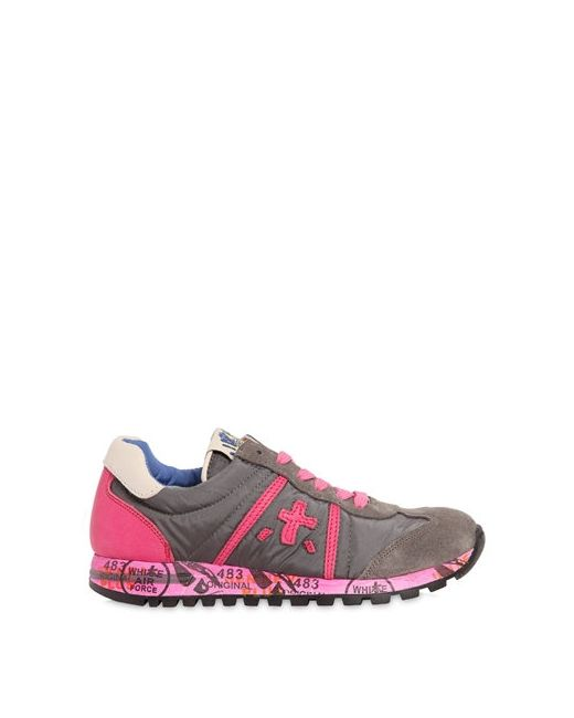 Premiata | Серый Lucy Suede Nylon Sneakers