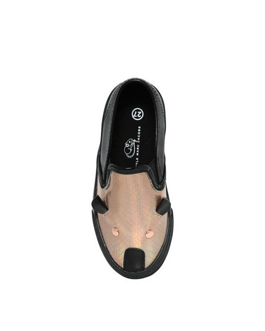 Little Marc Jacobs | Чёрный Mouse Leather Slip-On Sneakers
