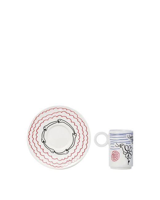 L'ABITARE | Белый Never Ending Snakes Espresso Cup Set
