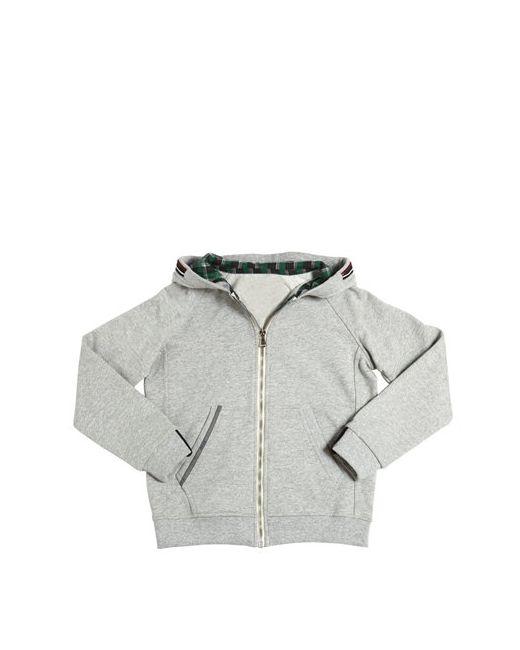 Myths   Серый Hooded Cotton Zip-Up Sweatshirt