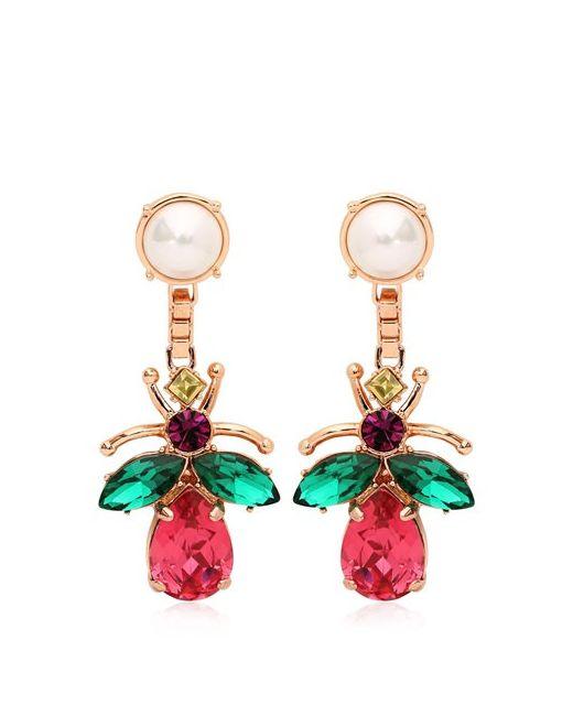 Mawi | Многоцветный Love Bug Crystal Earrings