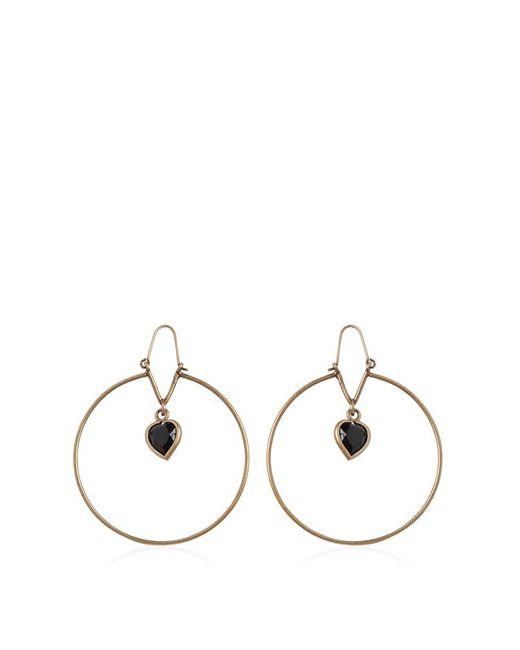 Etro | Золотой Heart Stone Pendant Brass Earrings