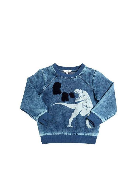 Little Marc Jacobs | Синий T-Rex Printed Bleached Cotton Sweatshirt